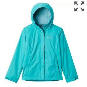 Columbia Girls' Arcadia Rain Jacket bright aqua